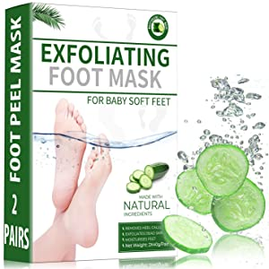 2021 Most Effective Foot Peel Mask 2 Pack for Cracked Heels,Dead Skin & Calluses-Make Your Feet Baby Soft & Get a Smooth Skin,Foot Peel Exfoliator Remove Repair Rough Heels Men Women Natural Treatment