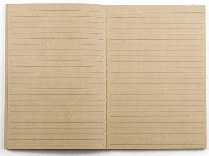 Hecho a mano de piel auténtica agenda Cuaderno Diario ...