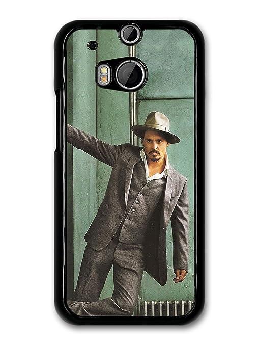 Johnny Depp Gangster Hat Posing Actor carcasa de HTC One M8 ...