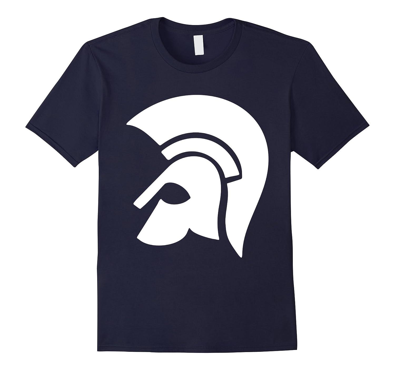 Spartan Head Shirt Spartans Mascot Drawing Gift T-Shirt-CL