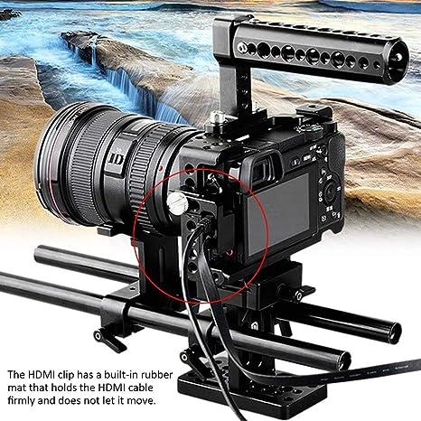 Abrazadera de Cable Abrazadera de Bloqueo HDMI para Sony A6500 ...