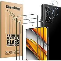 Kiewhay Schermbeschermer Compatibel met Xiaomi Mi 11i 5G/ Poco F3 Screen Protector, 3x Gehard Glas +2x Camera Lens…