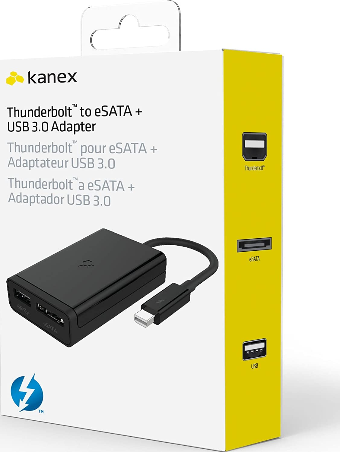 Amazon.com: Kanex Thunderbolt to eSATA plus USB 3.0 Adapter: Home ...