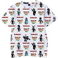 MINIDORA Roblox T-Shirt Niños Camiseta de Manga Corta 3D Imprimir de Juego