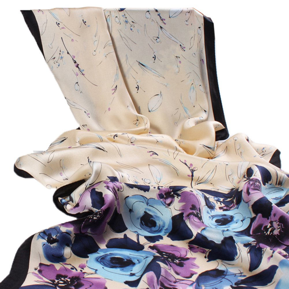Real Silk Scarf 106% Mulberry Silk Scarf Women's Long Shawl Business Gift Scarf
