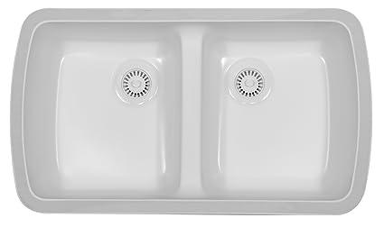 Karran undermount acrylic sinks meridian white double bowl karran undermount acrylic sinks meridian white workwithnaturefo