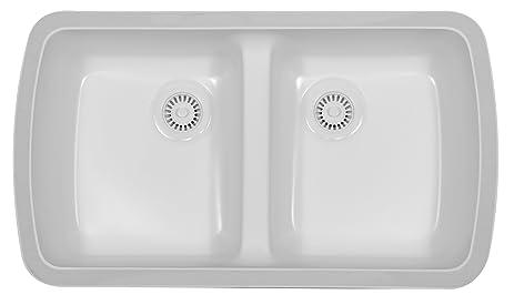 karran undermount acrylic sinks   meridian   white karran undermount acrylic sinks   meridian   white   double bowl      rh   amazon com