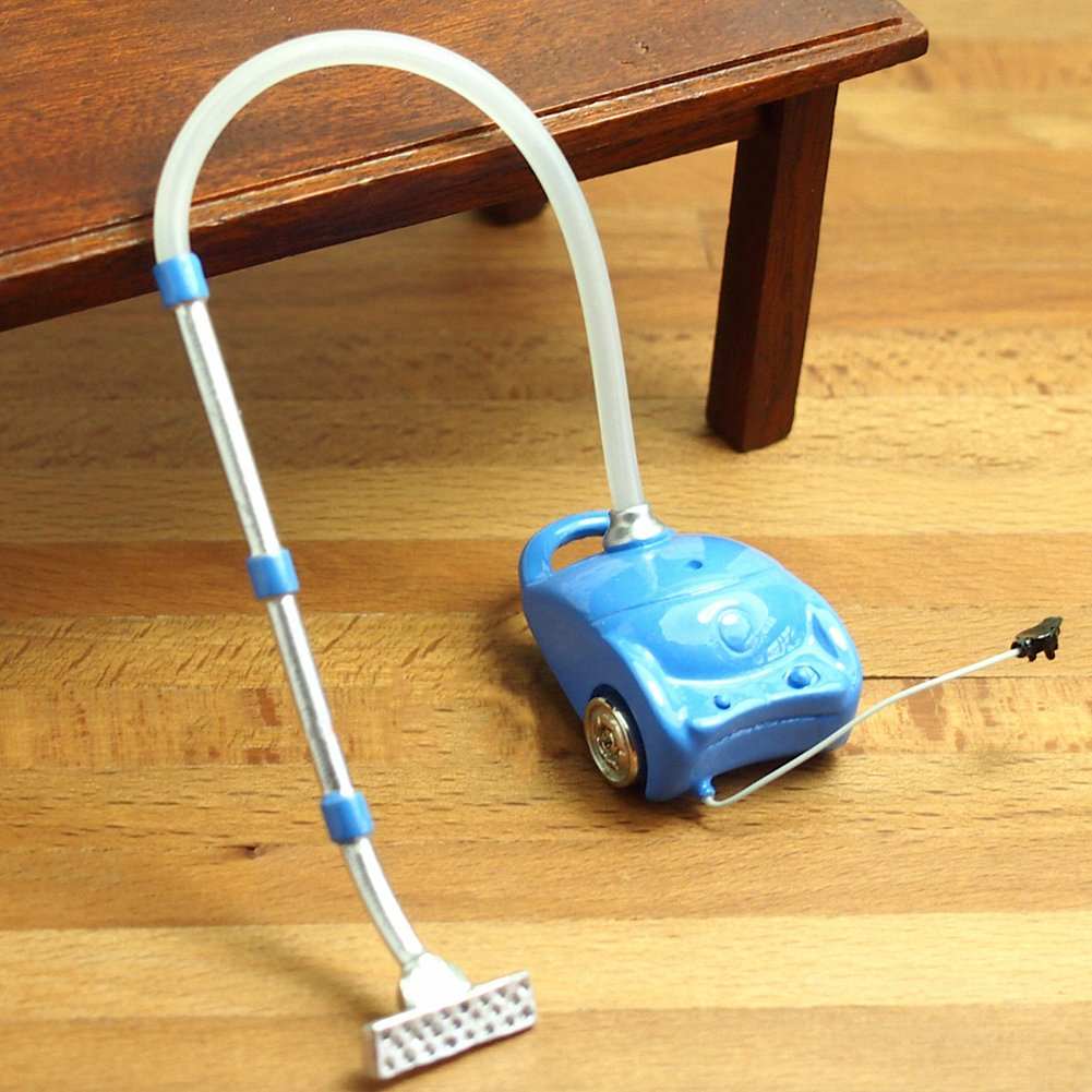 Anniston Dollhouse Furniture, Kids Toy Miniature Resin Vacuum Cleaner Sweeper Dollhouse Accessories Decor Gift House Playset Set for Toddlers Girls and Boys, Blue