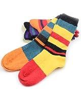 EBMOER Women's 5 pairs warm multi colors stripe wool socks