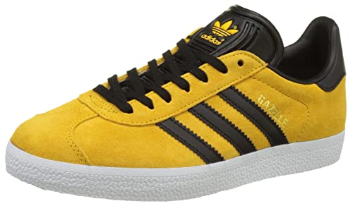 adidas gazelle black and yellow
