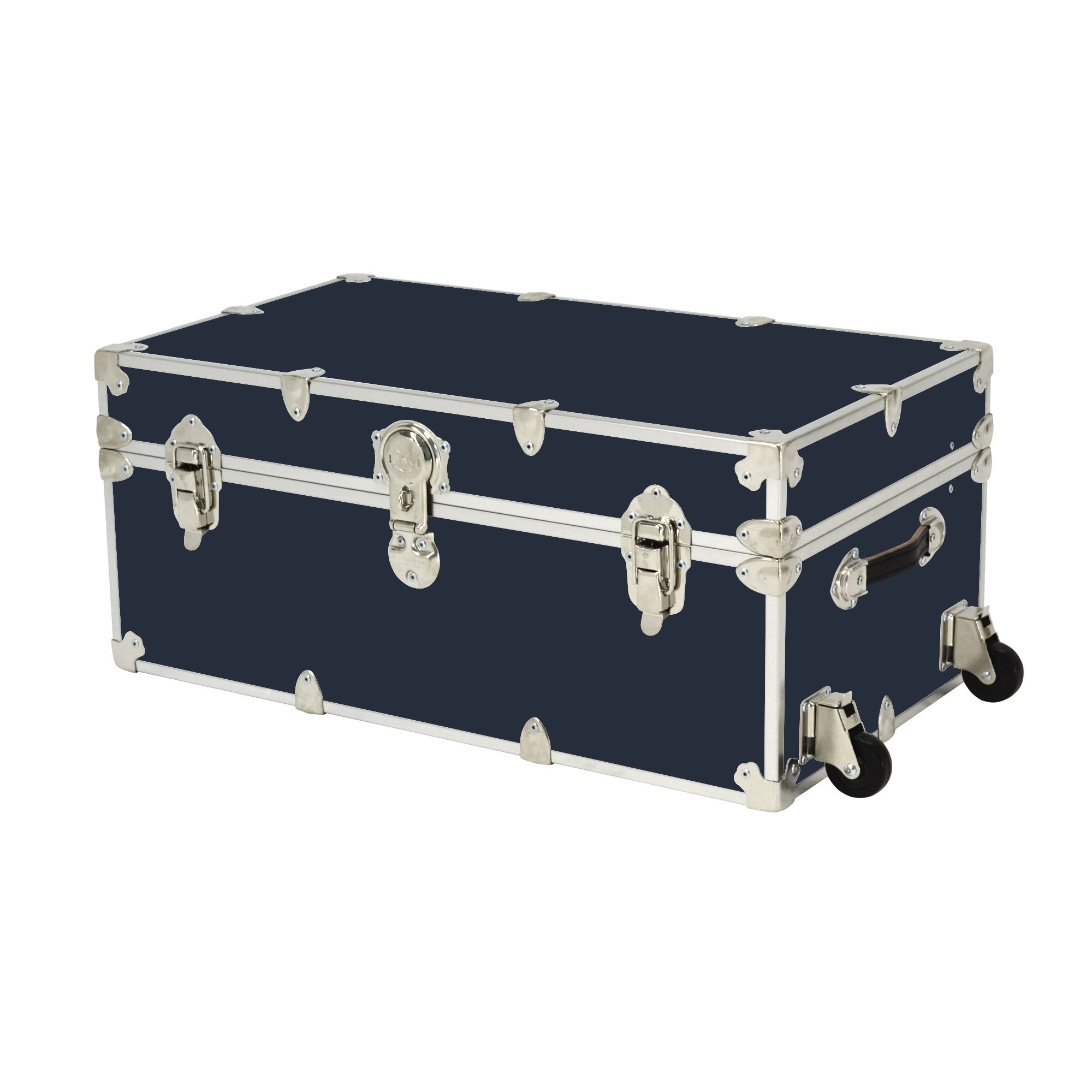 Rhino Trunk and Case Rhino Armor Large Trunk with Wheels, 32''X18''X14'', Navy Blue
