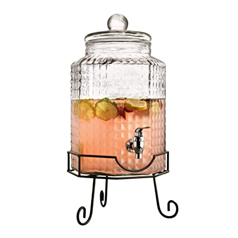 7b746e98c51 Image Unavailable. Image not available for. Color  Style Setter Charleston  Octagonal 210879-GB 2.75 Gallon Glasss Beverage Drink Dispenser with Metal  Stand
