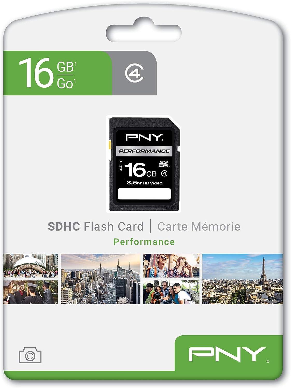 PNY P-SDHC16G4-EF Optima 16 GB SDHC Class 4 Flash Memory Card