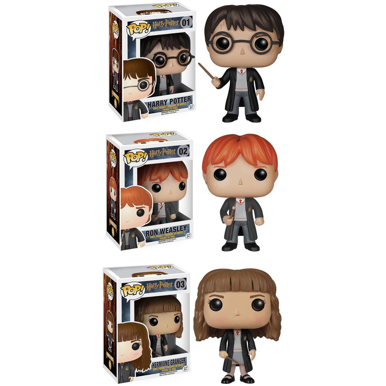 Funko Harry Potter POP! Movie Vinyl Collectors Set: Harry Potter, Ron Weasley & Hermione Action Figure