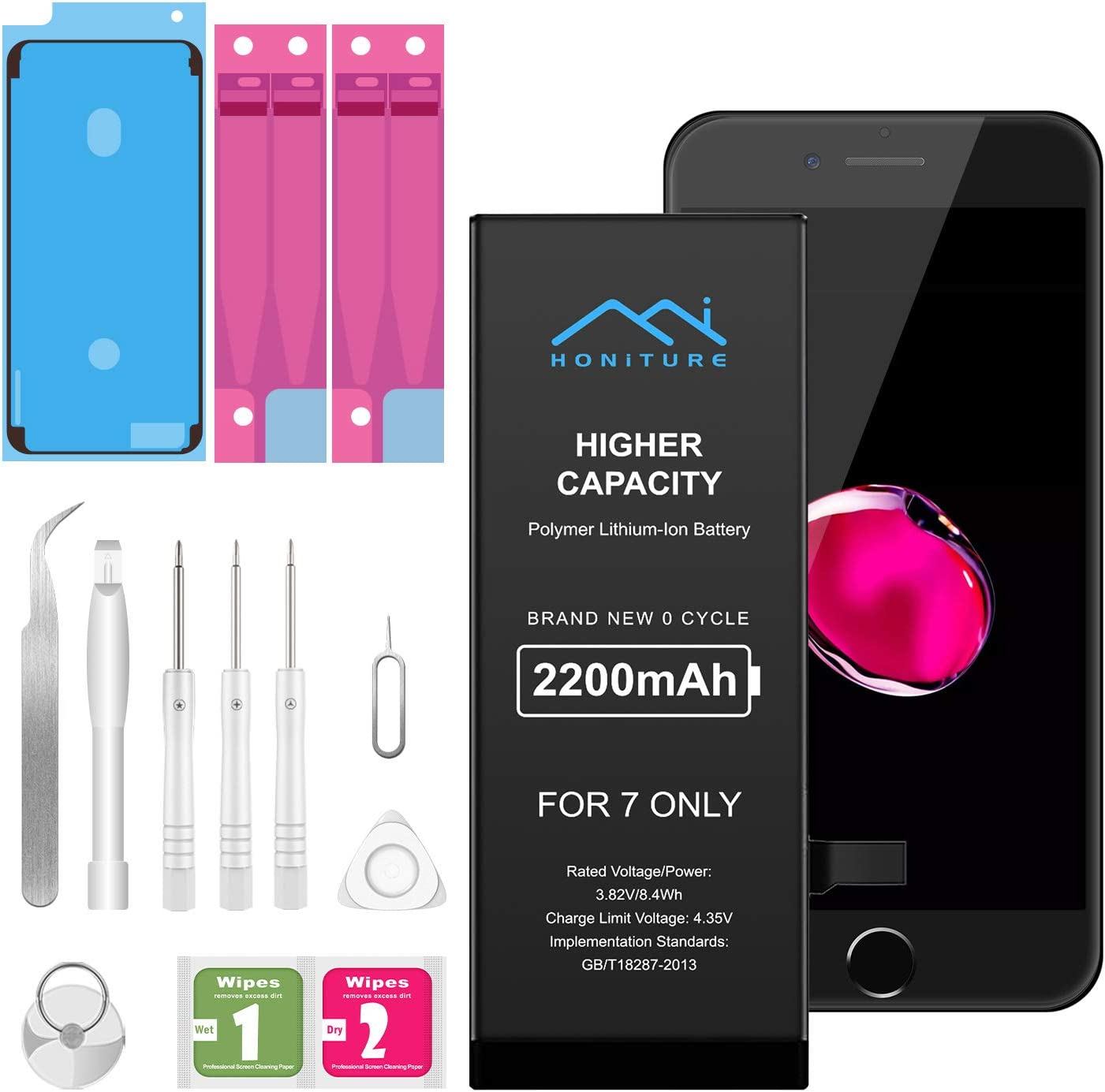 EVARY 2200mAh Battery for iPhone 6 with Complete Repair Tool Kits and Instructions 22/% High Capacity Replacement Battery 0 Cycle