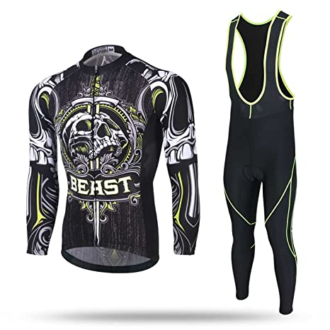 b819af3fa Cycket Autumn Winter Mens Bike Jersey and 3D Padded Compression Pants  Tights Set Outfit