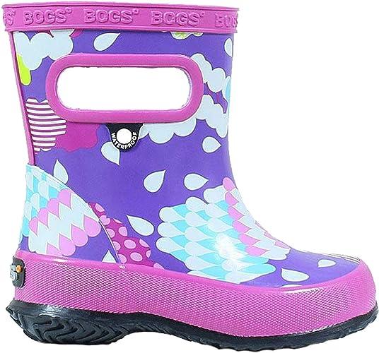 BOGS Kids Skipper Waterproof Rubber Boys and Girls Rain Boot