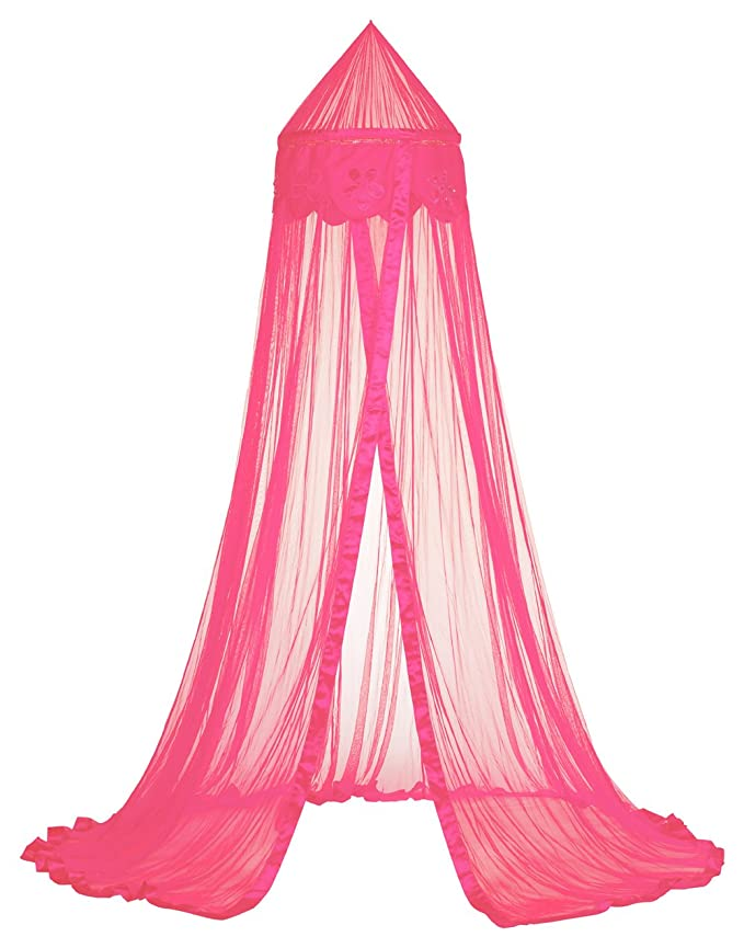 Taftan/ /Mosquitera para cama cuna Till 1/personas de flor de cuentas multicolor Rosa oscuro