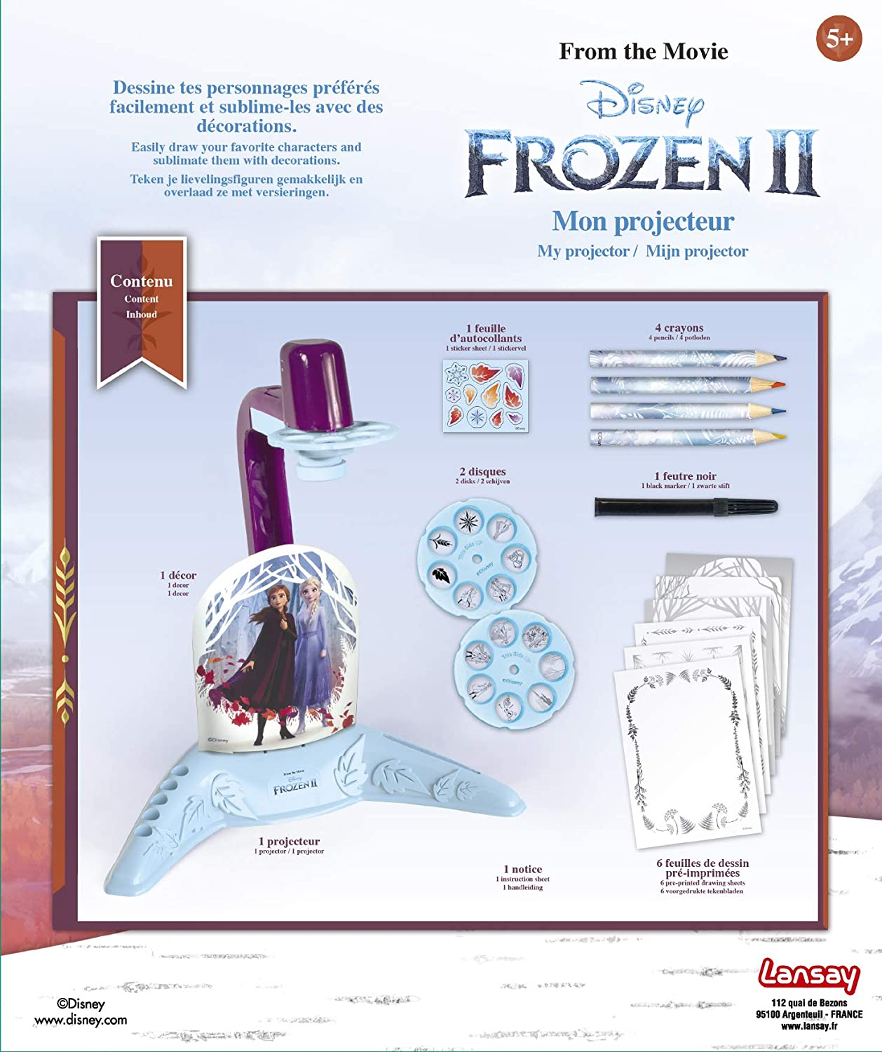 Toy Partner- Proyector Frozen II, Multicolor (25026): Amazon.es ...