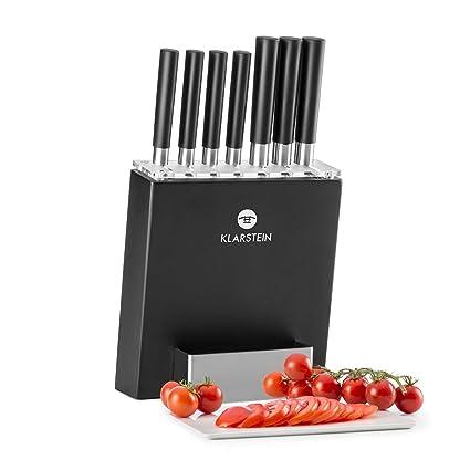 Klarstein Kitano Set de Cuchillos de 8 Piezas • Cuchillos precisión de Acero • Diseño japones • Anti bacterias • Mango Antideslizante • Set ...
