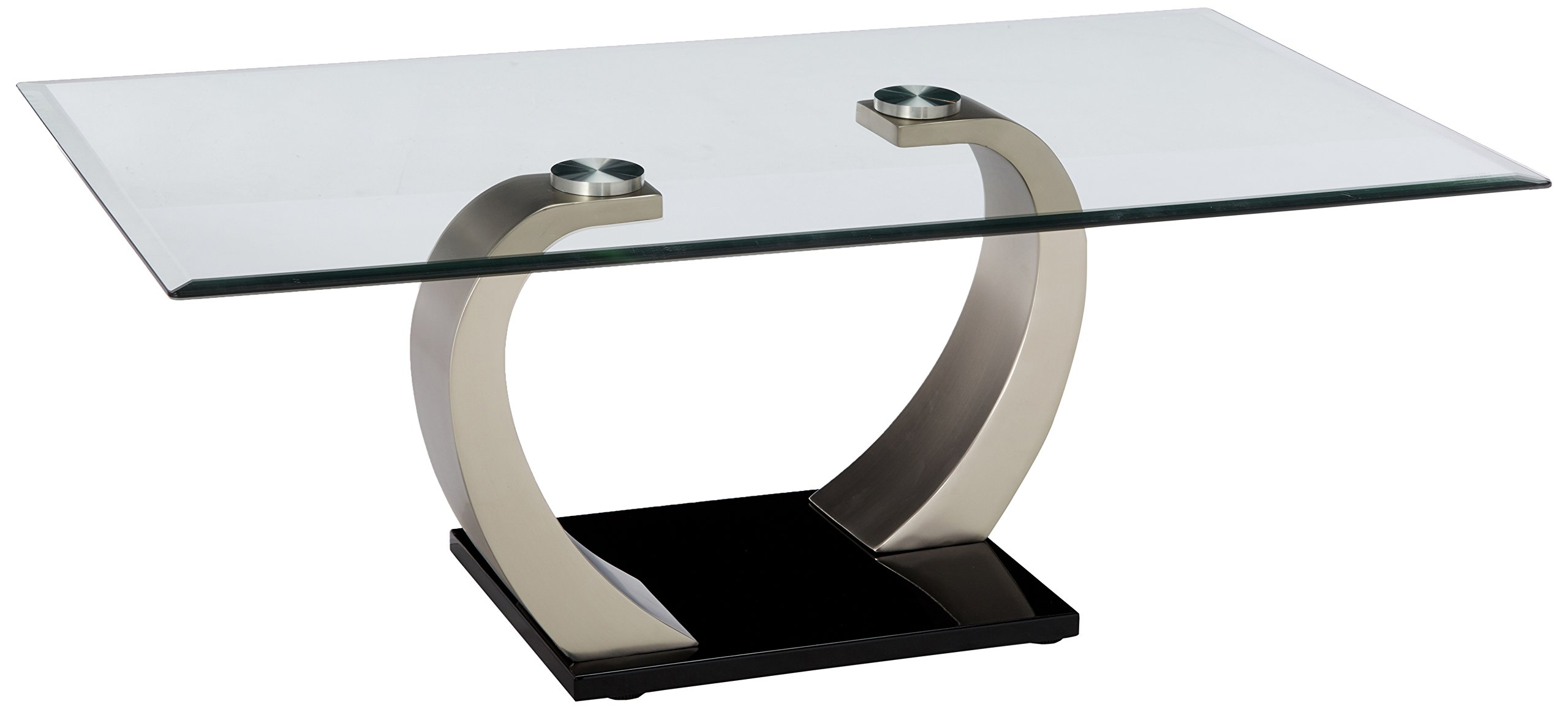 Shearwater Rectangular Coffee Table Silver and Clear by Coaster Home Furnishings