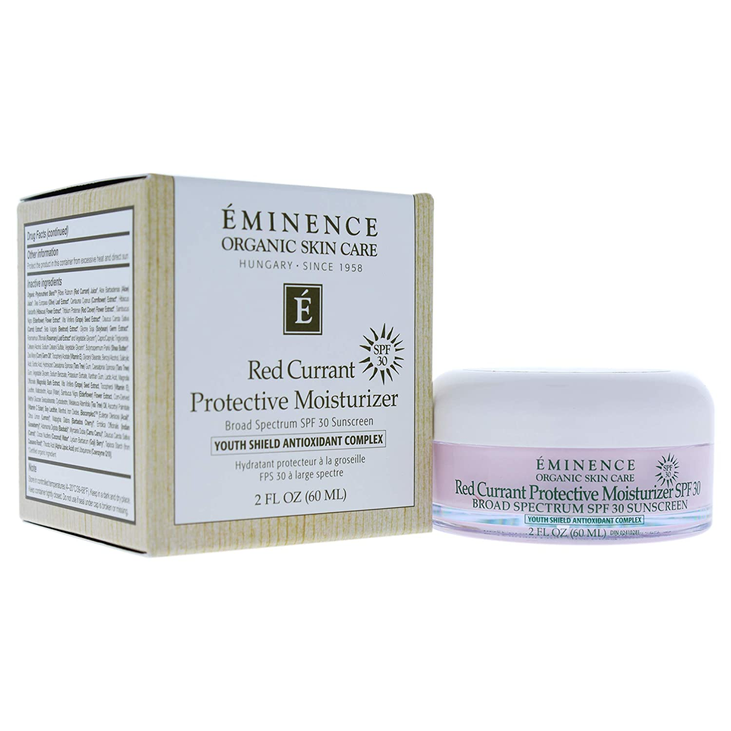Eminence Red Currant Protective Moisturizer Spf 30 Sunsceen for Unisex, 2 Ounce