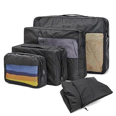 Amazon.com: eyhome 4 Set Packing Cubes sistema Accesorios de ...