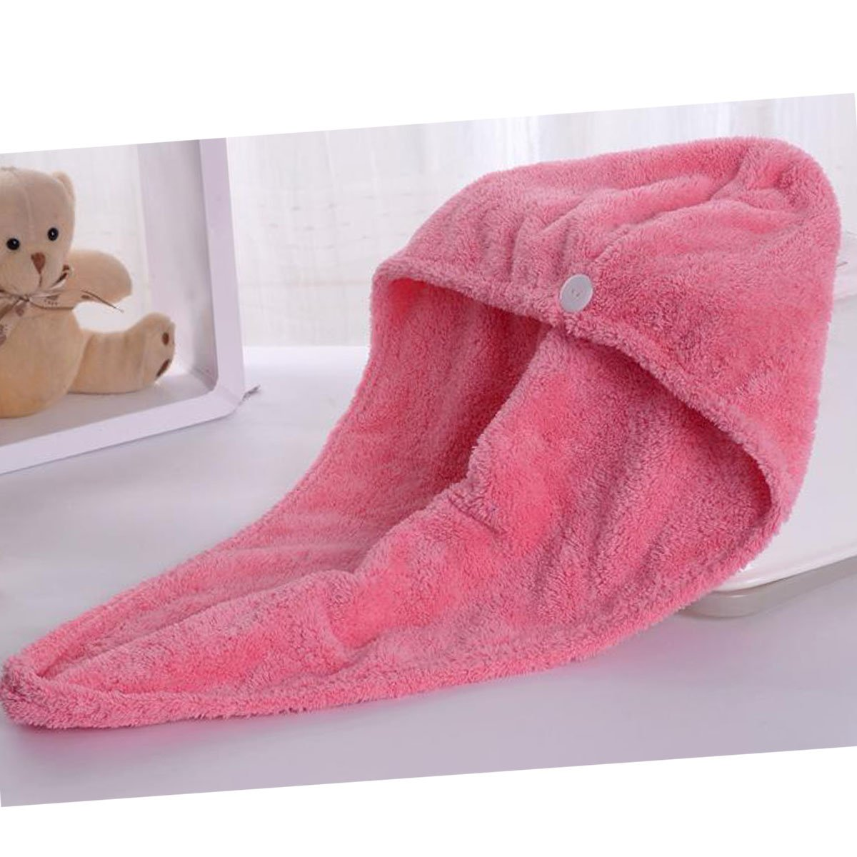 Ukey Pelo de Microfibra Turbante Toalla Wrap Super Absorbente Toalla para el Pelo para niños y Adultos Largo de Pelo Corto Tiempo de Secado de Pelo de ...