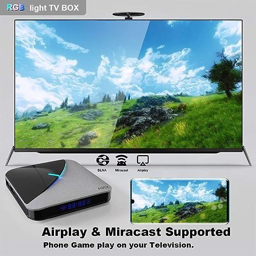 LFYPSM A95X-F3-Air S905X3 Reproductor De Video HD 8K 2 + 32G Smart TV Box IPTV Red Set Top Box/STB Android Box: Amazon.es: Hogar
