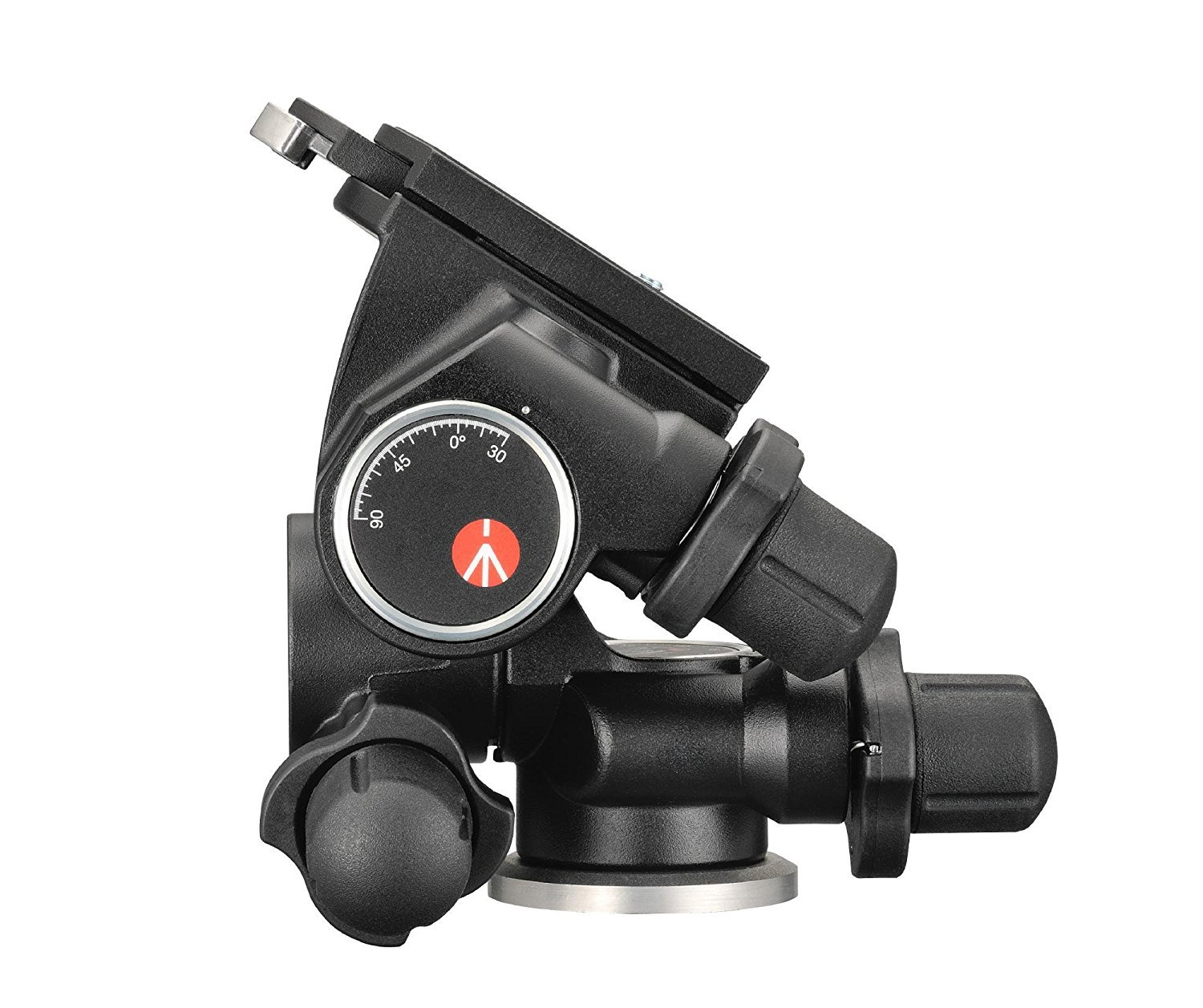 Manfrotto 410 Junior Geared Tripod Head with Quick Release and a Bonus Ivation Quick Release Plate by Manfrotto (Image #3)