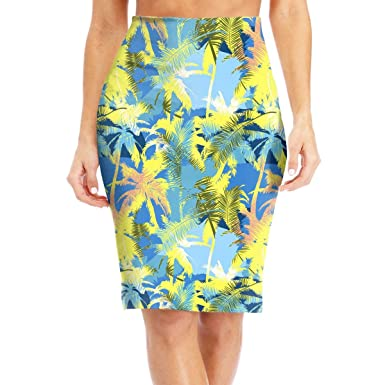 935d45bba7653 Amazon.com: ZSJRH-M Women's Sexy Slim Mid Skirt Exotic Pattern with ...