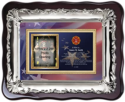 Amazon.com - Personalized fire fighter picture frame and fireman ...
