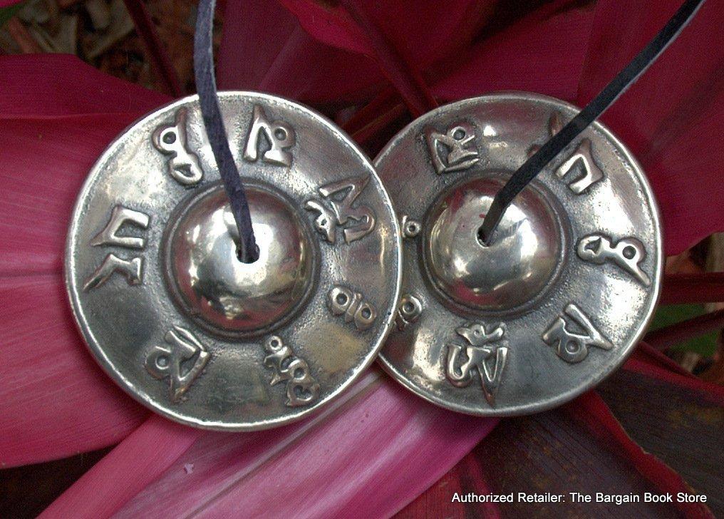 Handmade Authentic Om Mani Padme Hum Mantra Prayer Tingsha Cymbals by MANU