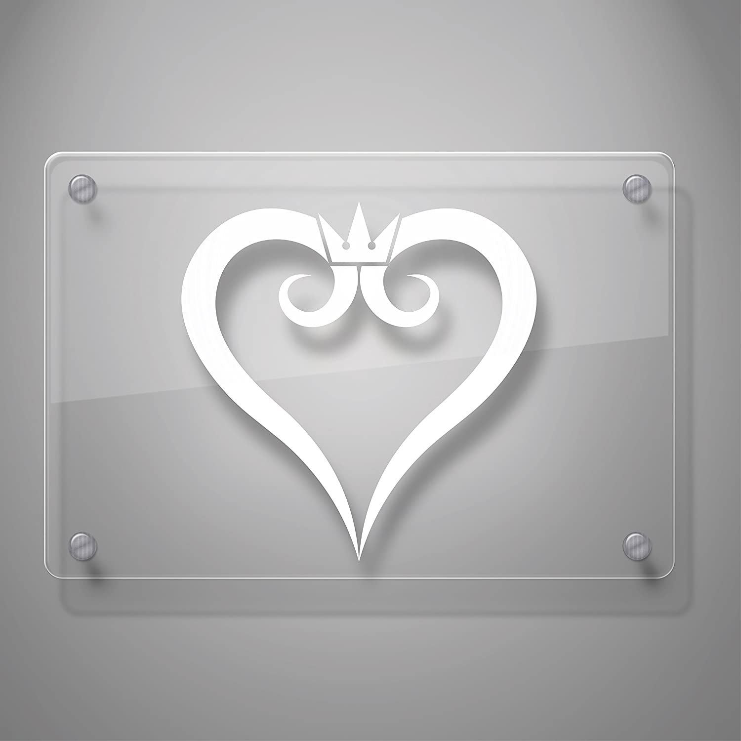 # 491 Laptop and More Kingdom Hearts Inspired Heart Crown Decal Sticker for Car Window # 491 4 x 3.9 Yoonek Graphics Laptop and More 4 x 3.9, White