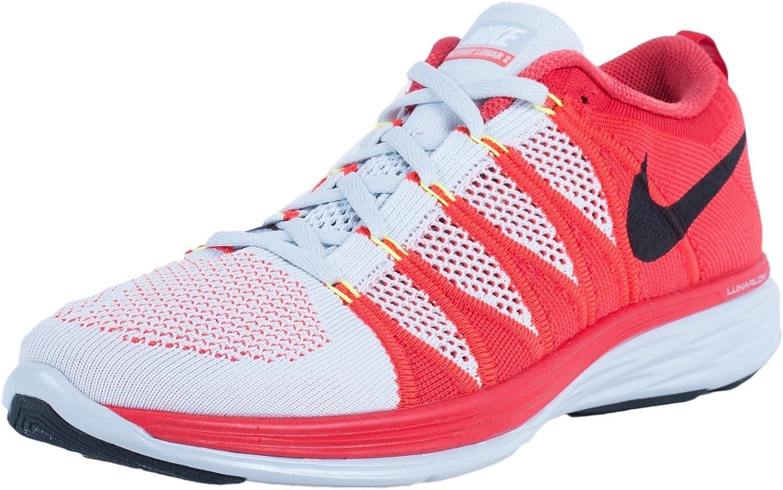 mensual En marcha nuestra  Amazon.com | Nike Flynit Lunar2 Men's Shoes Pure Platinium/Bright  Crimson/University Red/Black 620465-006 (Size: 8) | Road Running