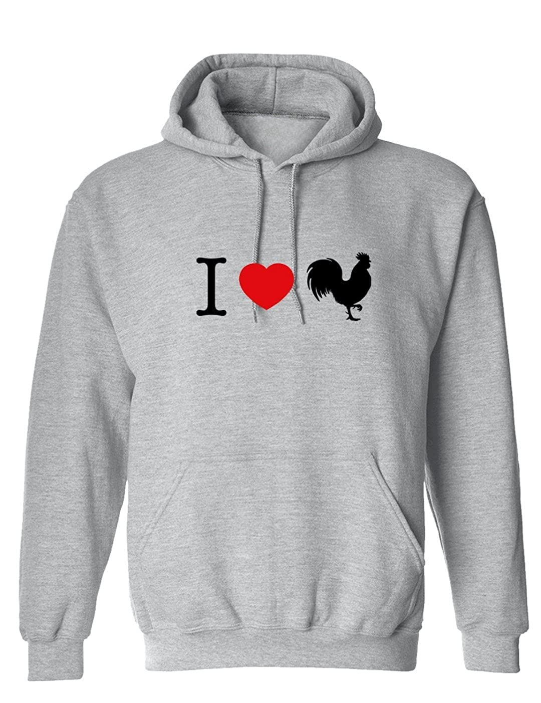 Funny I Love Chicks Rooster Graphic Design Hoodie