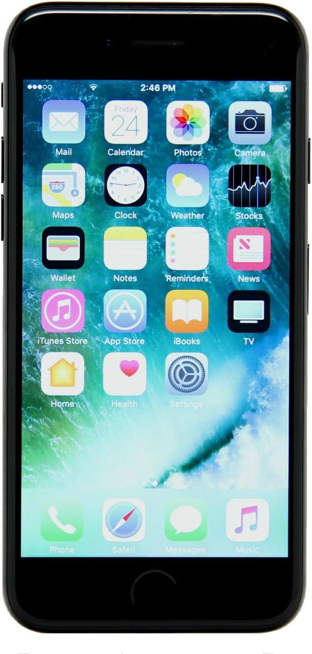 Apple iPhone 7, 32GB, Jet Black - Fully Unlocked (Renewed)