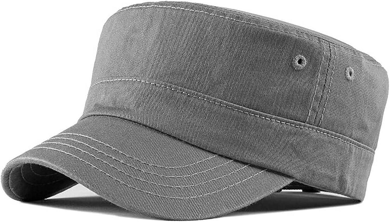 Vintage Hommes Femmes Classic Army Plain chapeau réglable Cadet Militaire Baseball Cap