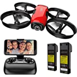 SANROCK U61W Drones for Kids with Camera, Mini RC Quadcopter with 720P HD WiFi FPV Camera, Support Altitude Hold, Route…