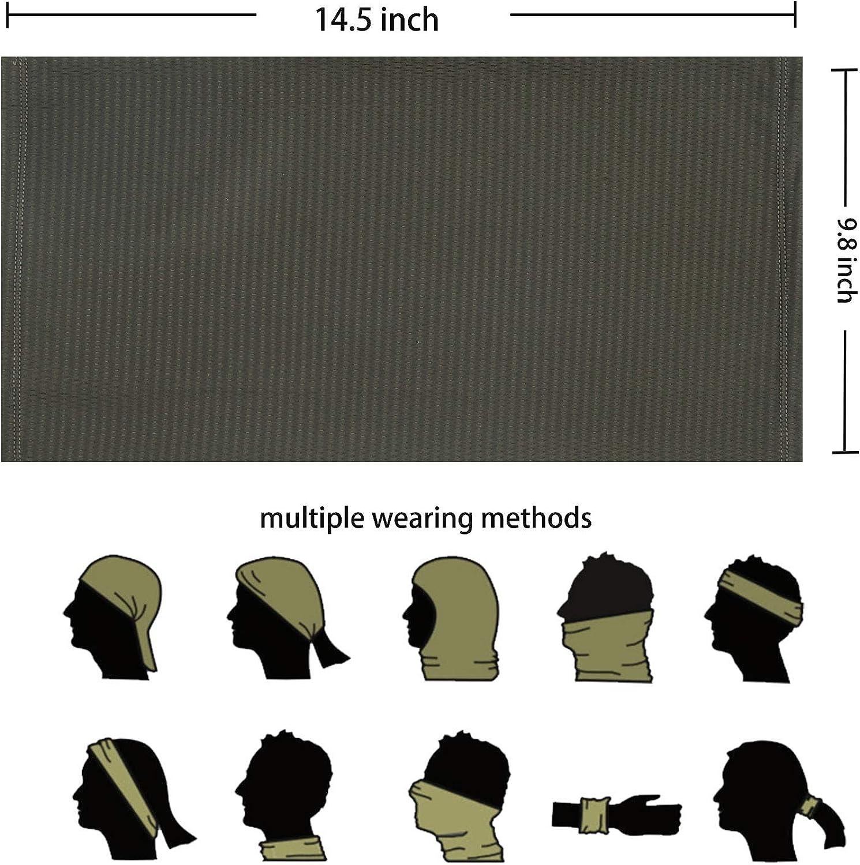 OGPIGGJA Summer Face Cover UV Protection Neck Gaiter Scarf for Men Sunscreen Breathable Bandana for Fishing Hiking