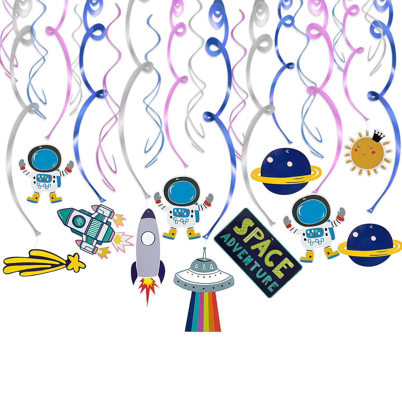 Maojuee 30 Piezas Espacio Exterior Decoraci/ón Sistema Solar Decoraci/ón Colgante Remolinos para Infantiles Ni/ños Beb/és Habitaci/ón Techo cumplea/ños Fiesta decoraci/ón Suministros