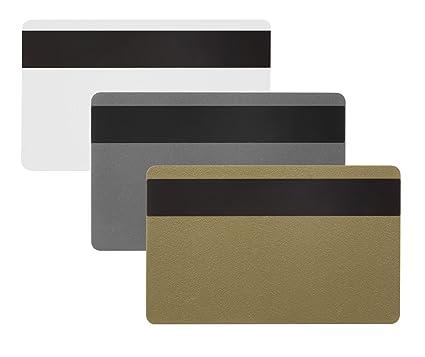 100 x Karteo® Tarjetas plásticas PVC laminadas blanca con banda magnética HICO