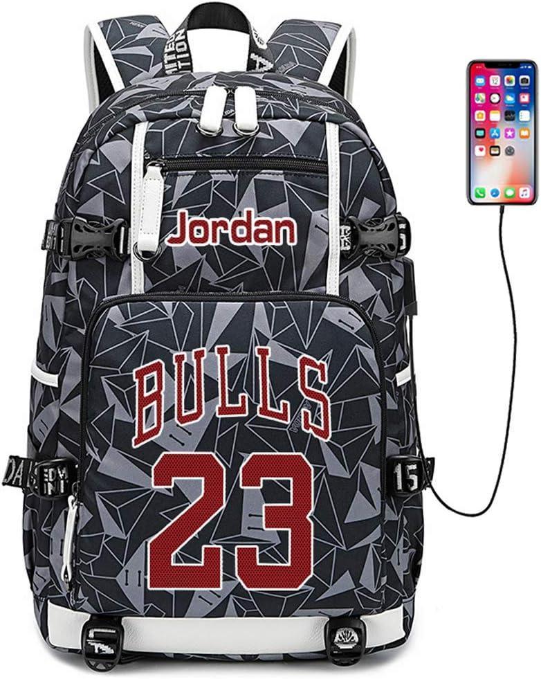Lorhs store Joueur de Basket-Ball Star Michael Jordan Sac /à Dos Multifonction Voyage /étudiant Sac /à Dos Fans Bookbag pour Hommes Femmes