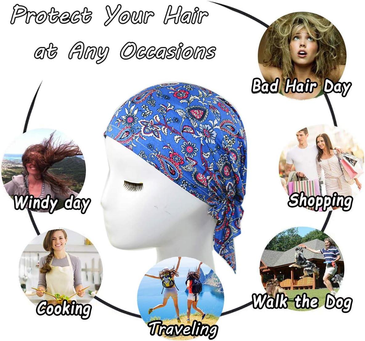 Chemo Haarausfall ZYCC Unisex Bandana Hut Baumwolle Gedruckt Turban Kopfbedeckung f/ür Krebs