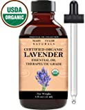 Mary Tylor Naturals Organic Lavender Essential Oil 4 oz, USDA Certified Organic, Premium Therapeutic Grade, 100% Pure, Perfect for Aromatherapy, Relaxation, Improved Mood and Much More.