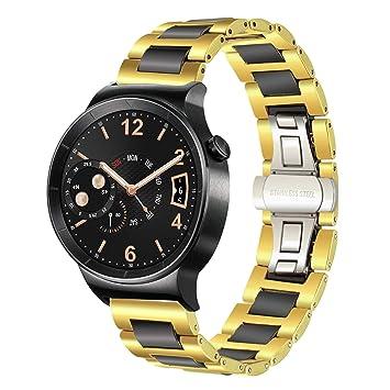 TRUMiRR 18mm cerámica banda de reloj de liberación rápida Correa Todos los enlaces extraíble para Huawei