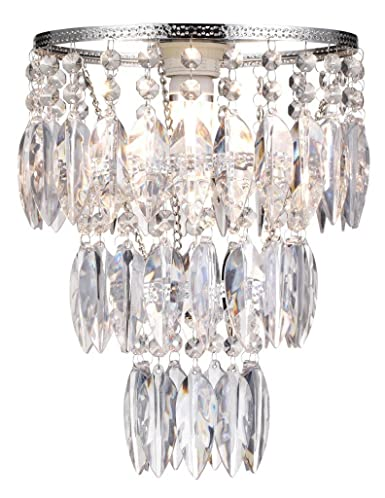 Easy fit nikki clear sparkly lamp shade for ceiling fitting modern easy fit nikki clear sparkly lamp shade for ceiling fitting modern chandelier decoration aloadofball Choice Image