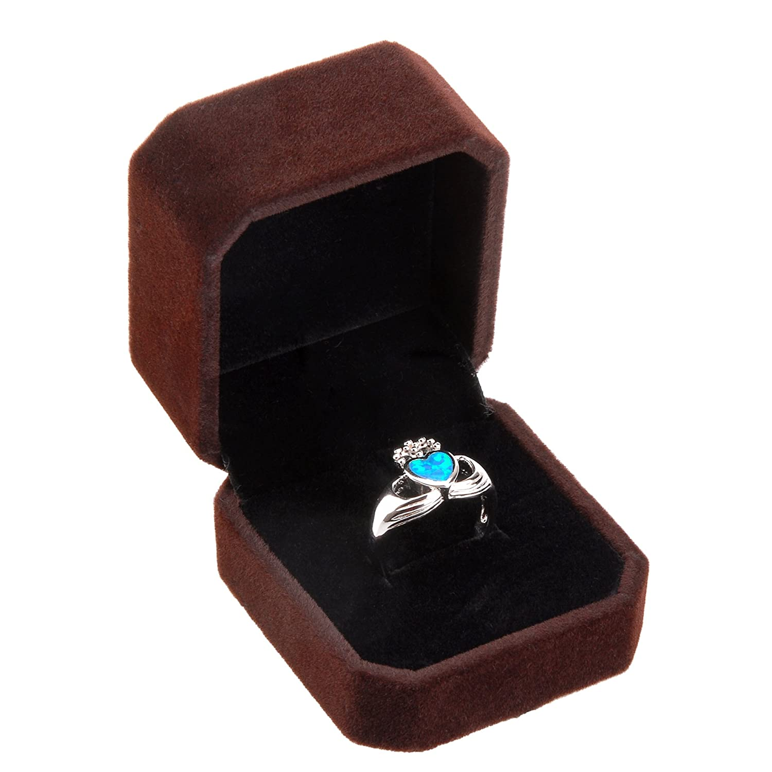 Classic Velvet Engagement Ring Jewelry Gift Box Geff House AX-AY-ABHI-105001