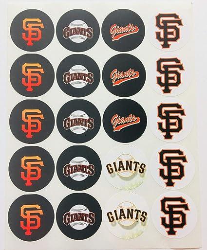 Amazon Set Of 20 San Francisco Giants Sticker Phone Small Mini Decal Logo Birthday Parties Envelopes Computers Accessories
