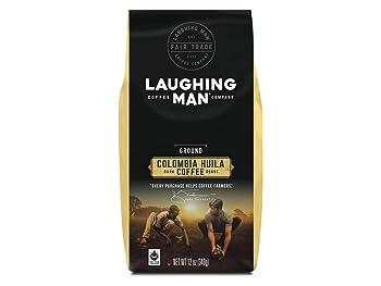 Laughing Man Colombia Huila Ground Dark Roast Coffee